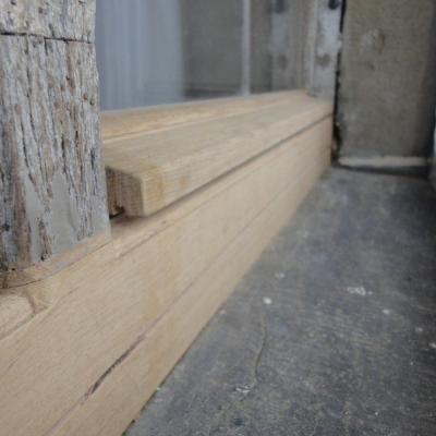 Rahmenholz unten außen und Wetterschenkel erneuert